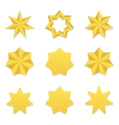 Seven poin stars collection vector