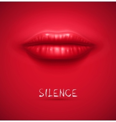 Silence background vector