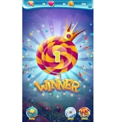 Sweet world mobile gui game winner window vector
