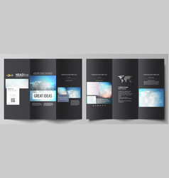 the black colored minimalistic vector image vector image