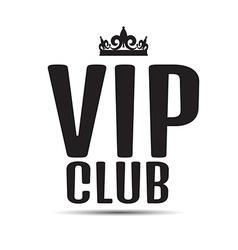 Vip club logo text vector