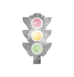 watercolor traffic light on white vector image vector image