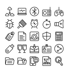 Web design line icons 8 vector