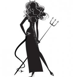 Woman devil vector