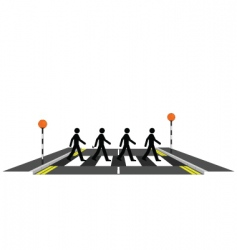 Zebra crossing vector image