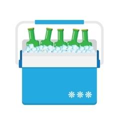 Freezer-bag in blue color vector