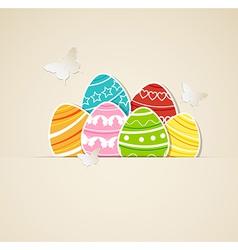 paper eggs vector image