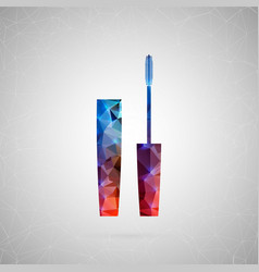 abstract creative concept icon of mascara vector image