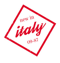 New in italy rubber stamp vector