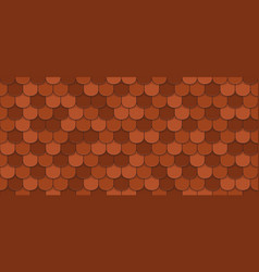 red roof tiles vector image