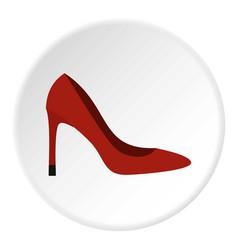 shoe icon circle vector image