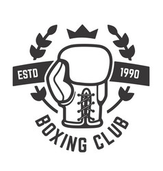 Boxing club emblem template boxing glove design vector