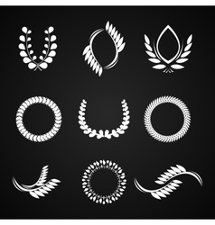 Collection of laurel wreaths for award vector