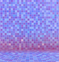 Purple swimming pool ceramic vector