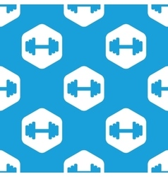 Barbell hexagon pattern vector