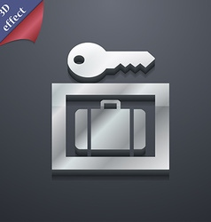 Luggage storage icon symbol 3d style trendy modern vector