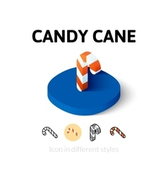 Candy cane icon in different style vector