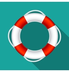 Lifebuoy sign symbol eps10 vector
