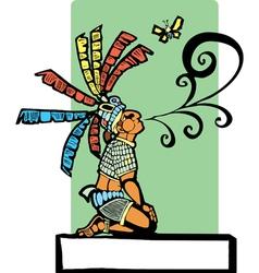 Mayan storyteller vector