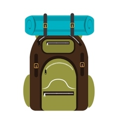 Colorful camping backpack graphic vector