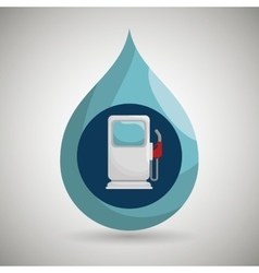 Gasoline dispenser isolated icon design vector