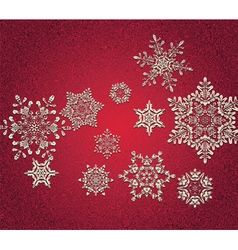 Abstract 3D Snowflakes vector image vector image