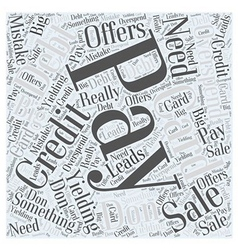 After you pay off credit card debt word cloud vector