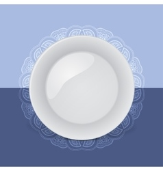 Background with decorative plate vector