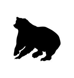 Bear black silhouette vector image vector image