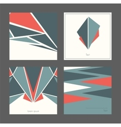 Beautiful collection of square cards based on vector