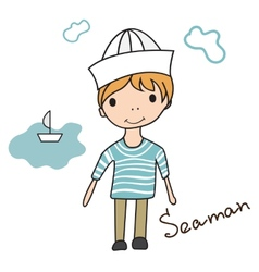 boy seaman vector image vector image