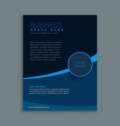 Business brochure template in dark blue shade vector