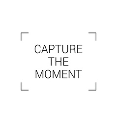 capture the moment vector image vector image
