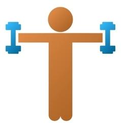 Child fitness gradient icon vector