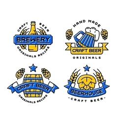 Craft beer bages set vector image vector image