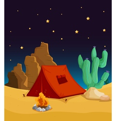 Desert Camping vector image