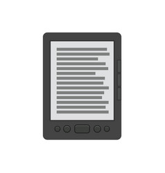 ebook reader flat icon vector image