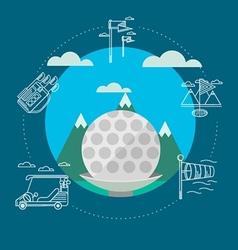 Flat of golf vector image