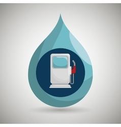 gasoline dispenser isolated icon design vector image vector image