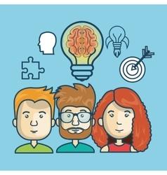 group person idea creative design vector image