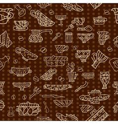 kitchen utensils background vector image vector image