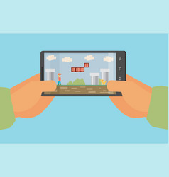 Mobile gaming concept flat design eps10 format vector