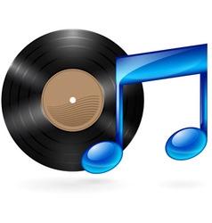 music vinyl 01 vector image vector image