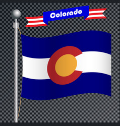 national flag of colorado vector image
