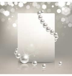 Pearl banner vector