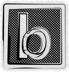 Polka dot font letter b vector