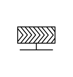 road banner icon vector image vector image