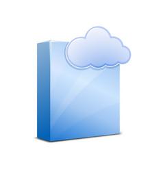 saas icon vector image vector image