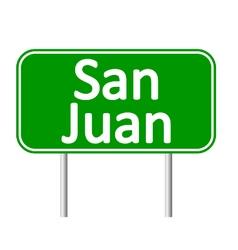 San juan road sign vector