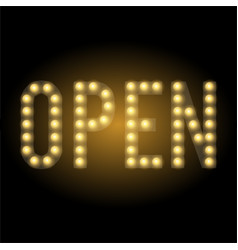 shop open sign vector image